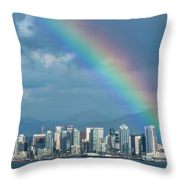 Throw Pillow featuring the photograph Somewhere Under by Dan McGeorge