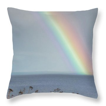 Somewhere Under The Rainbow Throw Pillow