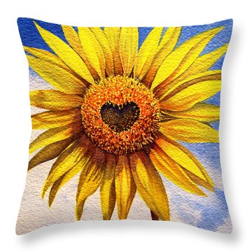 Son Kissed Throw Pillow