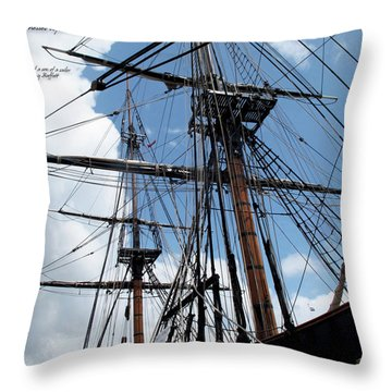 Son Of A Son Of A Sailor Quote - Tribute To The Bounty Throw Pillow by Joan  Minchak
