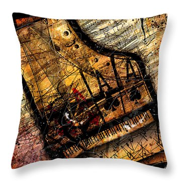 Sonata In Ace Minor Throw Pillow