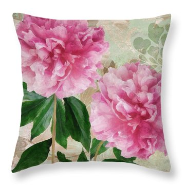 Sonata Pink Peony I Throw Pillow