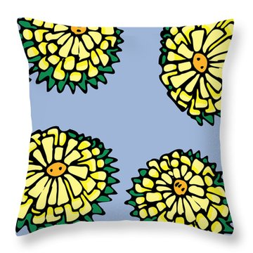 Sonchus In Color Throw Pillow