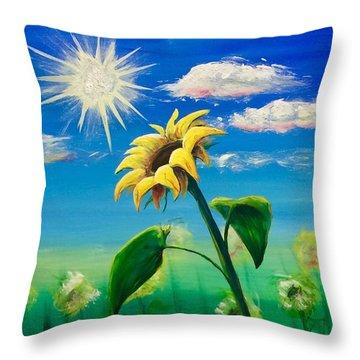Sonflower Throw Pillow