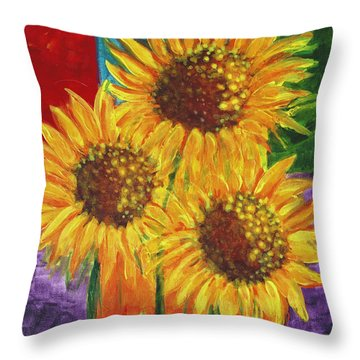 Sonflowers I Throw Pillow