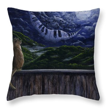 Song In The Night Throw Pillow