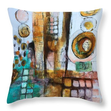 Song Throw Pillow by Karin Husty