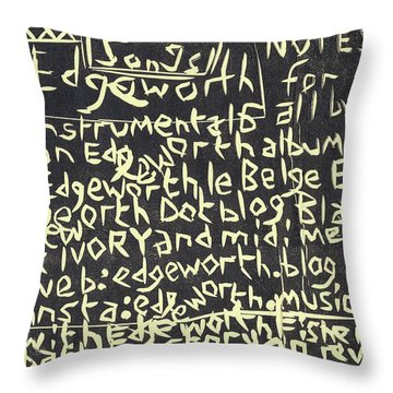 Song Notes Title Page A-l Throw Pillow
