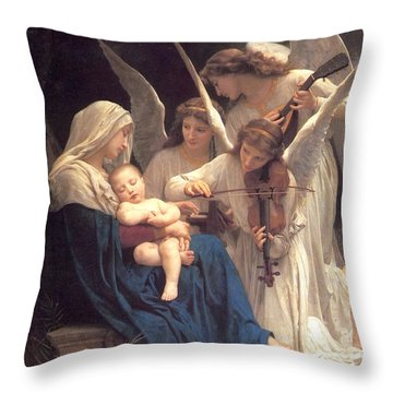 Throw Pillow featuring the painting Song Of The Angels by Celestial Images