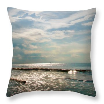 Throw Pillow featuring the photograph Song Of The Sea by Amy Tyler