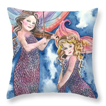Song Of The Sirens Throw Pillow