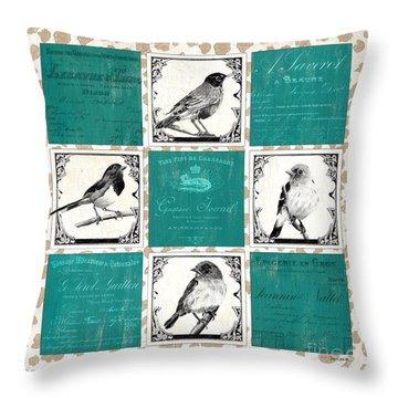 Songbird Cheetah Patch Throw Pillow