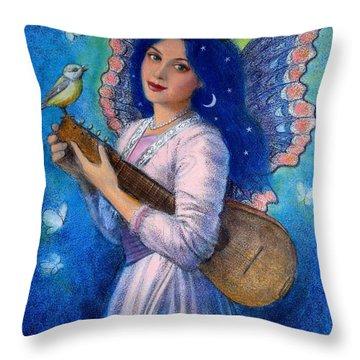 Songbird For A Blue Muse Throw Pillow