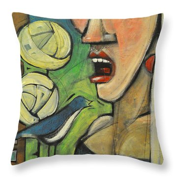 Songbirds Throw Pillow by Tim Nyberg