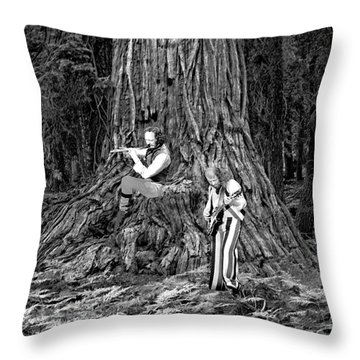 Throw Pillow featuring the photograph Songs In The Woods by Ben Upham