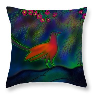 Throw Pillow featuring the digital art Songs Of Forest by Latha Gokuldas Panicker