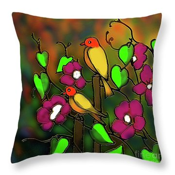 Songs Of October Throw Pillow