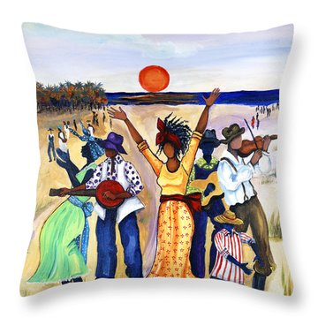 Songs Of Zion Throw Pillow