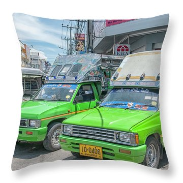 Throw Pillow featuring the photograph Songthaew Taxi by Antony McAulay