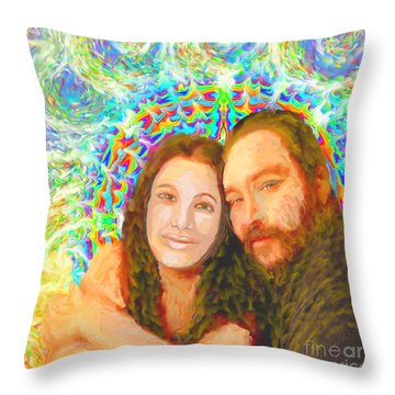 Sonia Marie And Her Sweetheart Throw Pillow