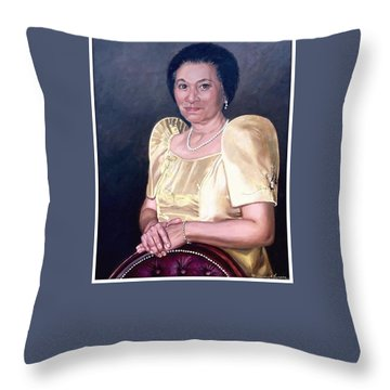 Throw Pillow featuring the painting Sonia by Rosencruz  Sumera
