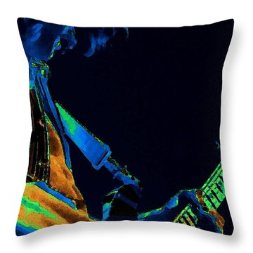 Sonic Guitar Explosions Art 1 Throw Pillow by Ben Upham