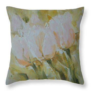 Sonnet To Tulips Throw Pillow