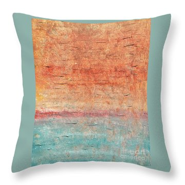 Sonoran Desert #1 Southwest Vertical Landscape Original Fine Art Acrylic On Canvas Throw Pillow
