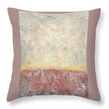 Sonoran Desert #2 Southwest Vertical Landscape Original Fine Art Acrylic On Canvas Throw Pillow
