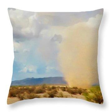 Sonoran Desert Dust Devil Throw Pillow