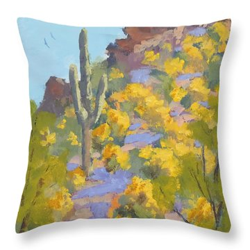 Sonoran Springtime Throw Pillow
