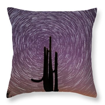 Sonoran Star Trails Throw Pillow