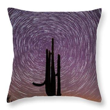 Sonoran Star Trails Throw Pillow