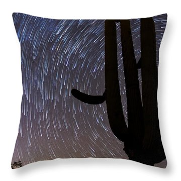 Sonoran Startrails - Reaching For The Stars Throw Pillow
