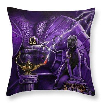 Psi Throw Pillows