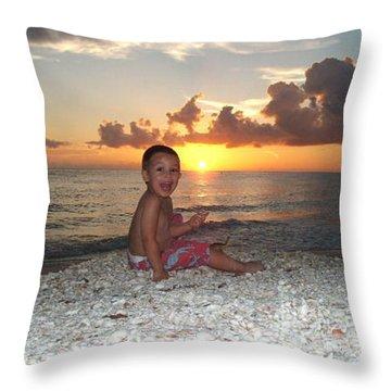 Sonsun Throw Pillow by Michelle S White