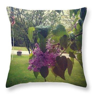 Lilac Life Throw Pillow