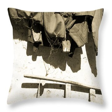 Throw Pillow featuring the photograph Soon Be Dry by Jez C Self