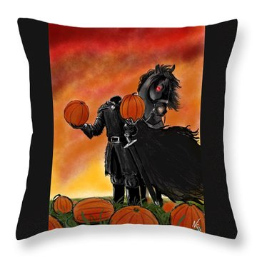 Soon It Will Be All Hallows' Eve Throw Pillow