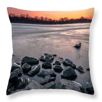 Throw Pillow featuring the photograph Soon To Be Frozen by Julis Simo
