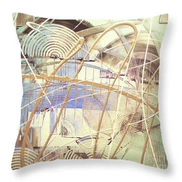 Throw Pillow featuring the painting Soothe by Melissa Goodrich