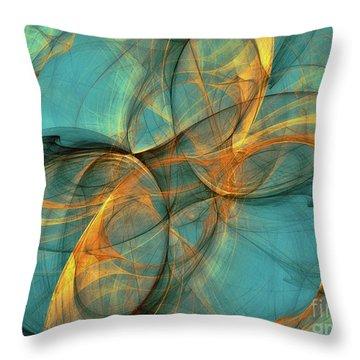 Throw Pillow featuring the digital art Soothing Blue by Deborah Benoit