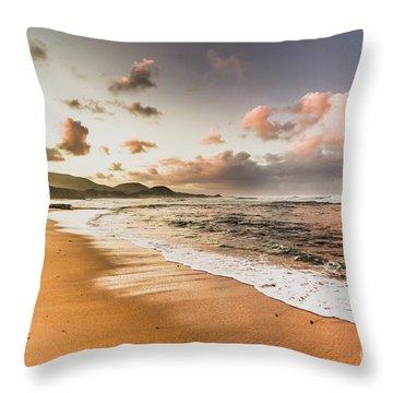 Soothing Seaside Scene Throw Pillow