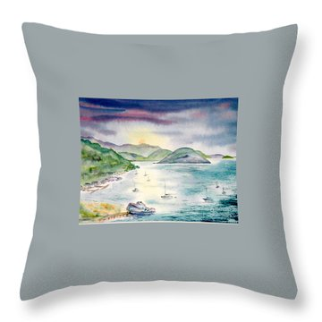Sopers Hole Sunset Throw Pillow