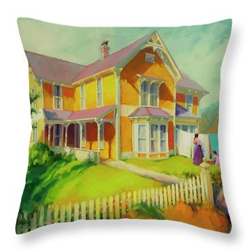 Sophie And Rose Throw Pillow