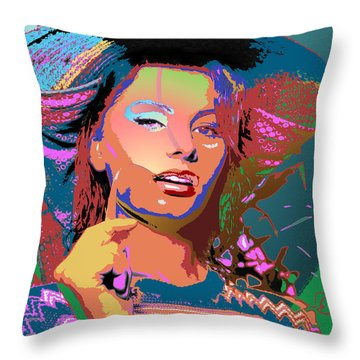 Throw Pillow featuring the digital art Sophia 4 by John Keaton