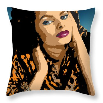 Throw Pillow featuring the digital art Sophia by John Keaton