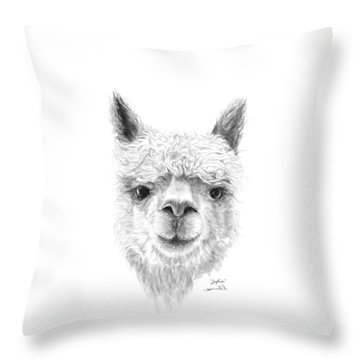 Throw Pillow featuring the drawing Sophia by K Llamas