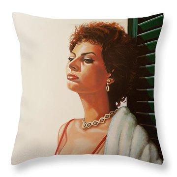 Italian Actress Throw Pillows