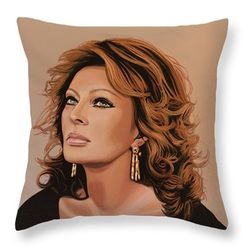 Sophia Loren 3 Throw Pillow by Paul Meijering